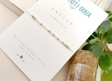 Bijoux - Bracelet Code Morse : Amitié - LES MOTS DOUX