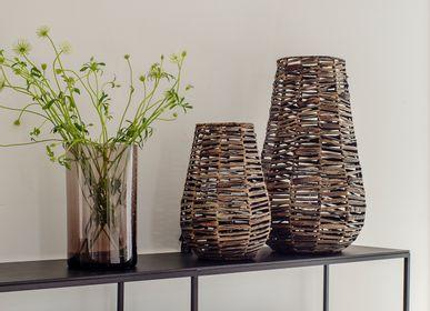 Table lamps - Blackwashed bamboo lamp - OI SOI OI