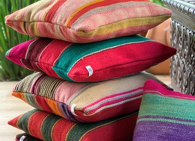 Fabric cushions - Colorful Unique Bolivian pillows - T'RU SUSTAINABLE HANDMADE