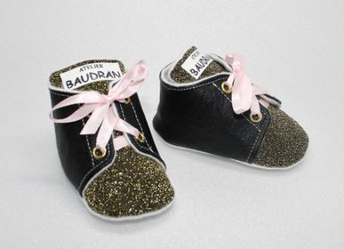 Children's slippers and shoes - Baby shoes, unique creation, 3/6 months - L'ATELIER DES CREATEURS