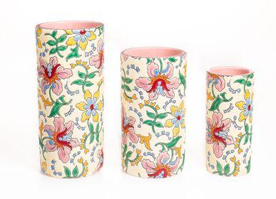 Vases - Primadonna Cornet Vase - MANUFACTURE DES ÉMAUX DE LONGWY 1798