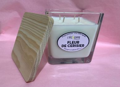 Candles - BOUGIES PARFUMEES 10 CM X 10 CM 4 MECHES  - L'ECHOPPE BUISSONNIERE