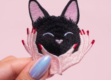 Jewelry - Iron-on embroidery cuddly cat - MALICIEUSE