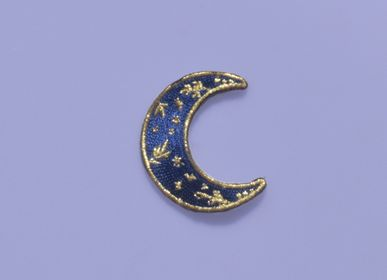 Gifts - Iron-on embroidery moon - MALICIEUSE