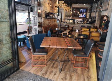 Tables Salle à Manger - Base étoile avec dessus durable - LIVING MEDITERANEO