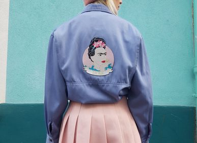 Apparel - Iron-on embroidery Frida Kahlo XL - MALICIEUSE