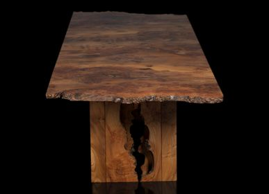 Dining Tables - Cross-grain Burr Elm Table - JONATHAN FIELD