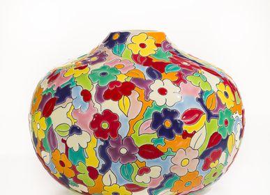 Decorative objects - Vase BILBOQUET open PM (TUTTI FRUTTI) - MANUFACTURE DES ÉMAUX DE LONGWY 1798