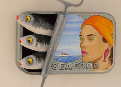 """Other wall decoration - Sculptures """"Canned Sardines"""" 44 x 25 cm - PHILIPPE BALAYN"""