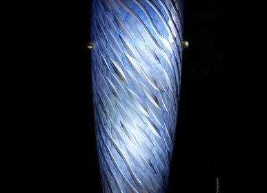 Design objects - Cut Crystal Wall Light - Wave Aqua Sconce - CRISTAL BENITO