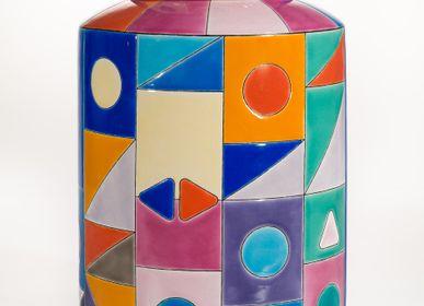 Céramique - Pot à Thé Art Decool - MANUFACTURE DES ÉMAUX DE LONGWY 1798