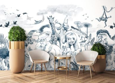 Other wall decoration - Wallpanel Noé Monochrome Encre - PAPERMINT