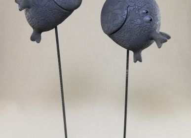 Sculptures, statuettes et miniatures - POISSON NOIR - MALIFANCE