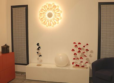 Other wall decoration - BIG FLOWERS MilkyWay wall lamp - EMMANUELLE M