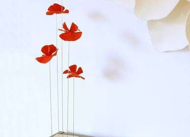 Sculptures, statuettes and miniatures - Poppy's Decorative flower - EMMANUELLE M