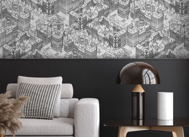 Other wall decoration - Wallpaper Paris Noir - PAPERMINT