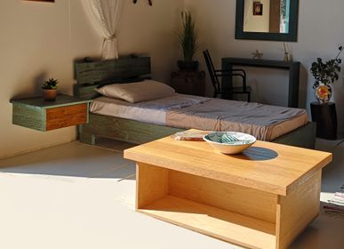 Coffee tables -  Coffee table Oak top Fisherman B  - LIVING MEDITERANEO