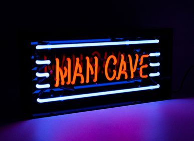 Decorative objects - 'Man Cave' Acrylic Box Neon Light - LOCOMOCEAN
