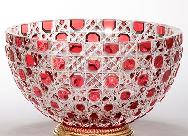 Objets design - Coupe cristal Taillé - Diamond stone bowl - CRISTAL BENITO