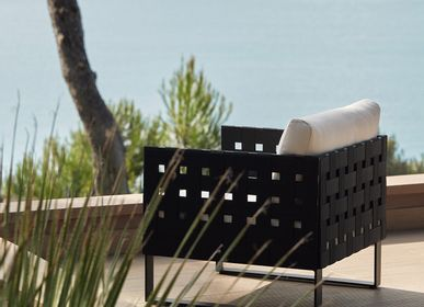 Lawn armchairs - Lounge armchair KOMFY BLACK - SIFAS