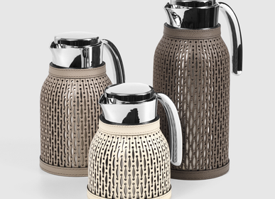 Tea and coffee accessories - Carafes I Leather Thermos & Flasks - PINETTI