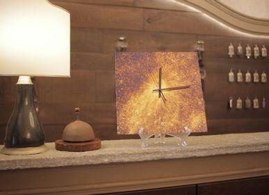 Clocks - MIRRORED WALL WATCH - ANTIQUE MIRROR