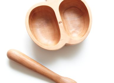 Objets de décoration - COFFRET DE PLAT DE BÉBÉ ET CUILLÈRE DE POMMIER - CHITOSE