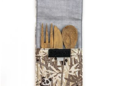Forks - Reusable Bamboo Kids Cutlery Set - PANDA PAILLES