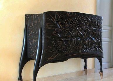 """Commodes - meuble commode  """"Bonheur noir"""" - LAUDREN THIERRY"""