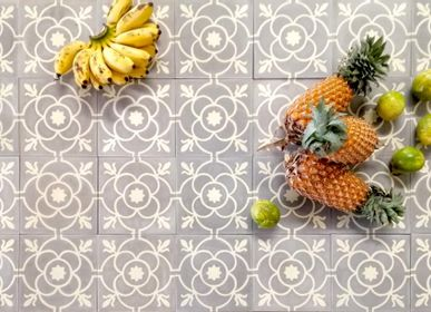 Kitchen splash backs - Cement Tiles - Bordeaux - ILOT COLOMBO