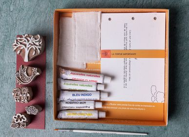 Children's arts and crafts - Indian Block Printing Kit for Kids - BAAYA GLOBAL