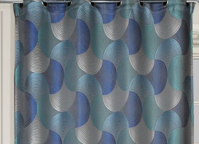 Curtains and window coverings - MANON - Blue - IPC DECO DELL'ARTE
