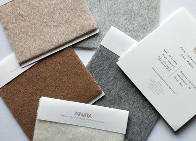Objets de décoration - Tissu Alana au mètre en Alpaga et laine mérinos. - INNATA