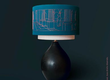 Design objects - Noria Lamp, Embroidered lampshade - LOU DE PRAY