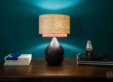 Design objects - Pétia lamp, Embroidered lampshade - LOU DE PRAY