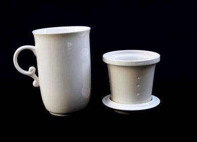 Kitchen utensils - Mug with filter and lid - TERRE DE CHINE
