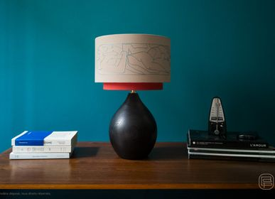 Design objects - Petia lamp, embroidery lampshade - LOU DE PRAY