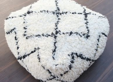 Fabric cushions - Moroccan Wool Pouf - MEEM RUGS