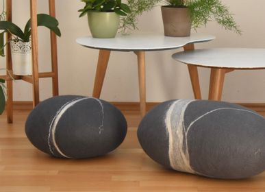 Coussins - Coussin de sol en laine feutrée, collection Ardoise - KAYU