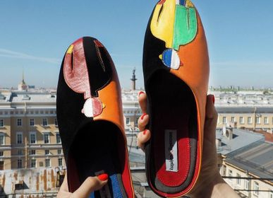 "Shoes - Men's slippers ""Malevich"", home shoes, home wear,  - RXBSHOES"