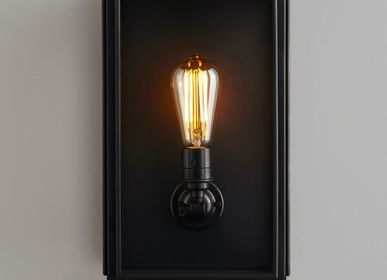 Wall lamps - Medium Box Wall Light, Weathered Brass - ORIGINAL BTC