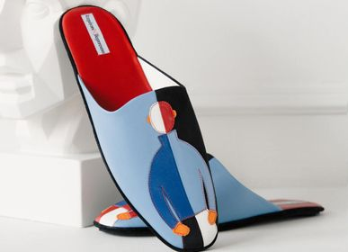 """Homeweartextile - Men's slippers """"Suprematisme"""" 1718, home wear, home shoes - RXBSHOES"""