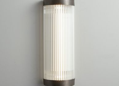 Wall lamps - Wide Pillar Wall Light, Weathered Brass - ORIGINAL BTC