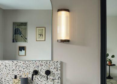 Wall lamps - Wide Pillar Wall Light, Weathered Brass - ORIGINAL BTC
