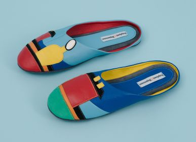 "Homewear -  Woman's slippers ""Malevich"" 1704, home wear, home shoes - RXBSHOES"