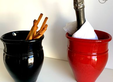 Vases - LA GIARA - BUCKET AND CHAMPAGNE POT, CERAMIC DECORATIVE POT - MAISON GALA