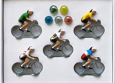 Objets de décoration - Coffret 5 cyclistes - BERNARD & EDDY