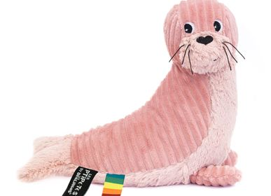 Soft toy - GLISSOU THE PINK SEAL - LES DEGLINGOS