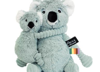 Soft toy - Trankilou The Koala Mom & Baby Mint - LES DEGLINGOS