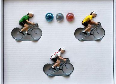 Objets de décoration - Coffret 3 cyclistes - BERNARD & EDDY
